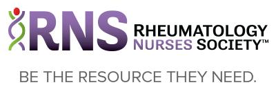 Rheumatology Nurses Society - Be the Resource They Need.